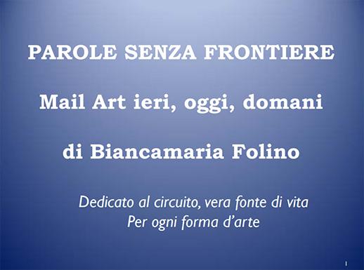 PAROLE SENZA FRONTIERE