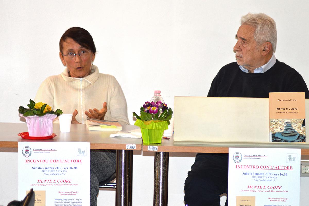 """Presentazione """"Mente e Cuore"""" c/o Biblioteca di Villasanta (Mb) 09/03/2019"""