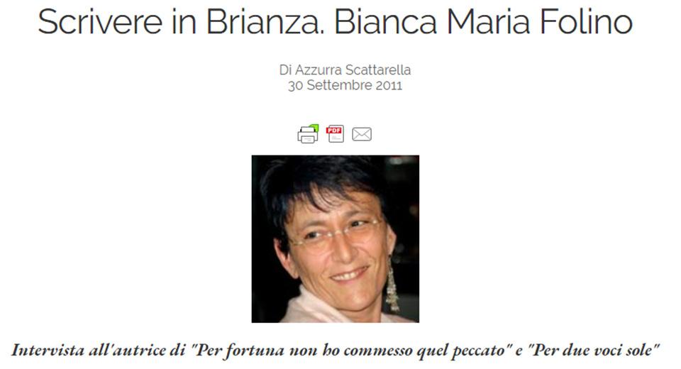 Intervista a Bianca Folino per Vorrei.Org